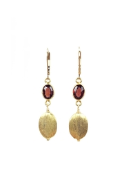 Melinda Lawton Jewelry Gold & Garnet Earrings - Product Mini Image
