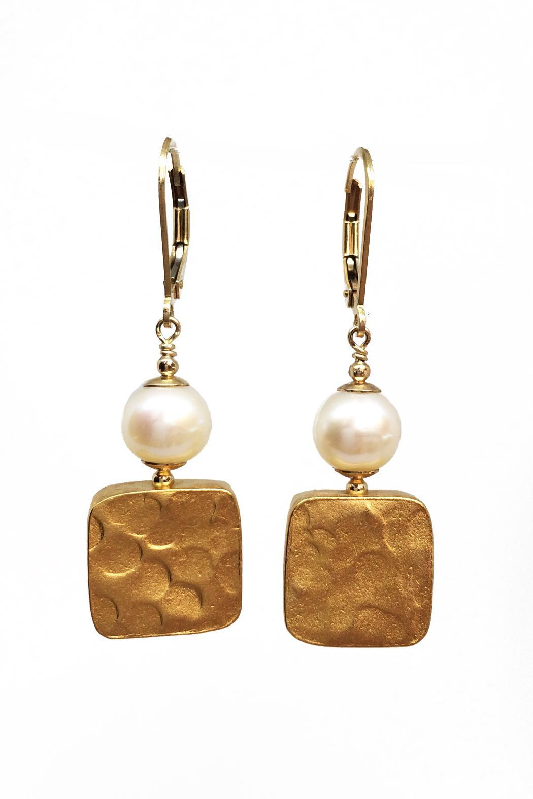 Melinda Lawton Jewelry Gold & Pearl Earrings - Main Image
