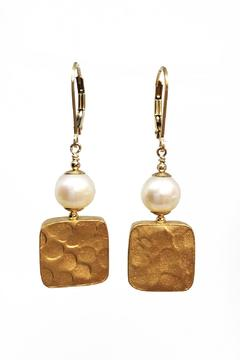 Melinda Lawton Jewelry Gold & Pearl Earrings - Alternate List Image