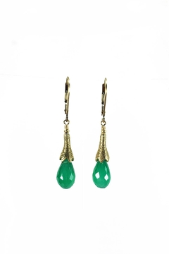 Shoptiques Product: Green Onyx Earrings