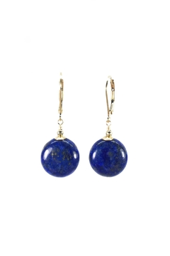 Shoptiques Product: Lapis Lazuli Disc Earrings