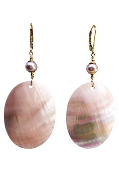 Melinda Lawton Jewelry Mother Of Pearl Earrings - Alternate List Image
