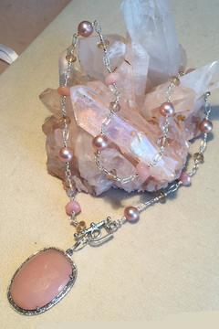 Melinda Lawton Jewelry Pastel Pink Necklace - Alternate List Image