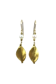 Melinda Lawton Jewelry Pearl & Gold Earrings - Product Mini Image