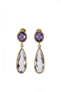 Shoptiques Product: Amethyst Earrings