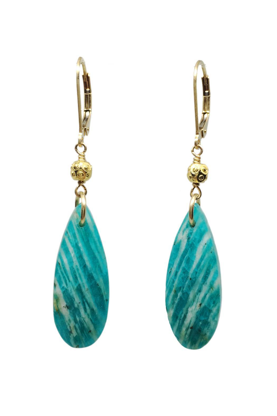 Melinda Lawton Jewelry Russian Amazonite Earrings - Main Image