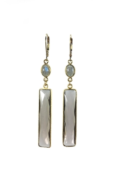 Shoptiques Product: Smokey Quartz & Labradorite Earrings