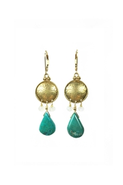 Melinda Lawton Jewelry Turquoise Moonstone Earrings - Front cropped