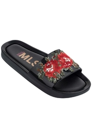 Melissa Beach Slide Flower - Front cropped