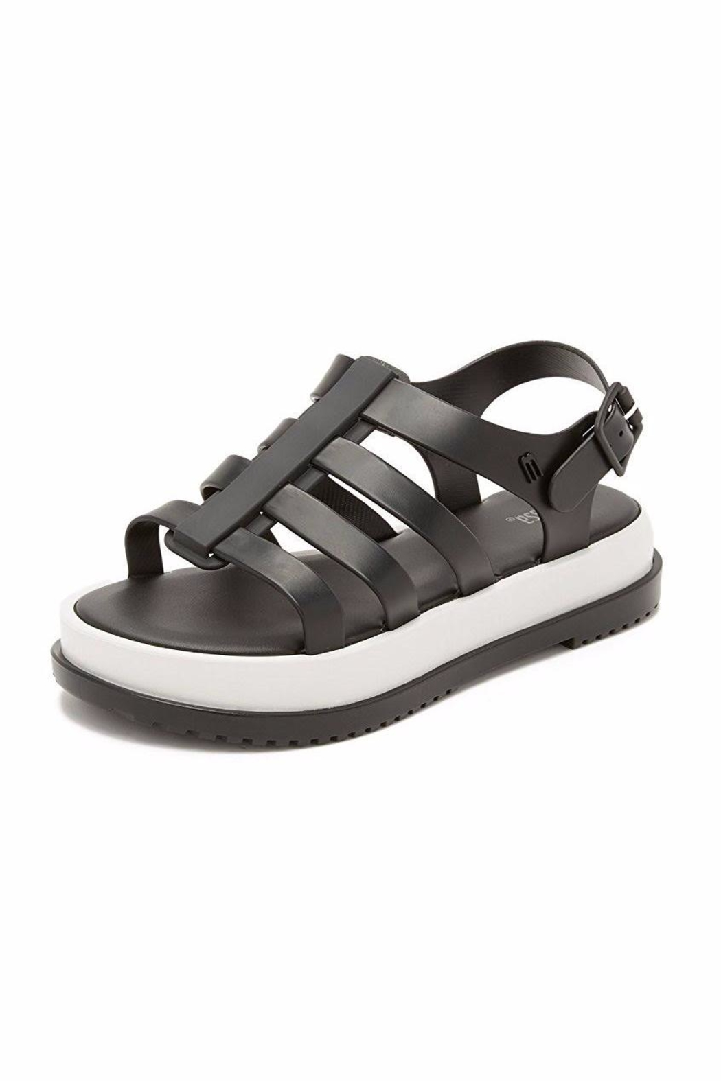 Melissa Black Casual Sandals - Front Full Image