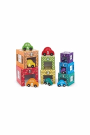 Melissa & Doug Sorting Garages & Cars Toy - Product Mini Image