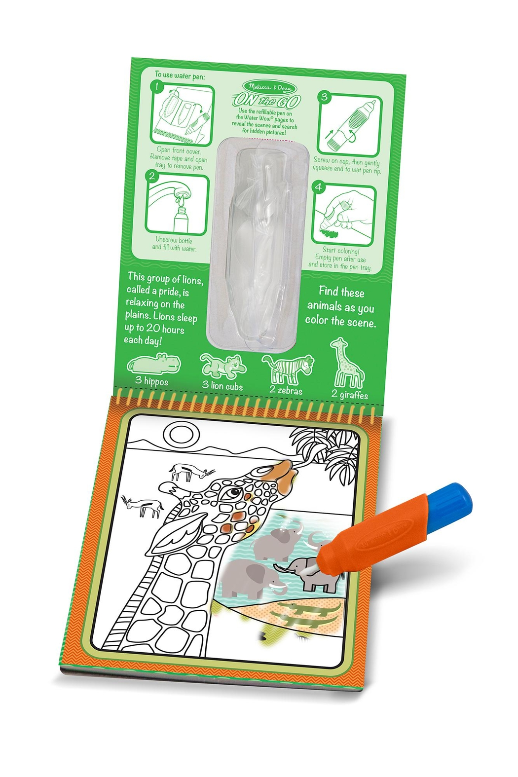 Melissa and Doug Water Reveal Pad - Front Cropped Image