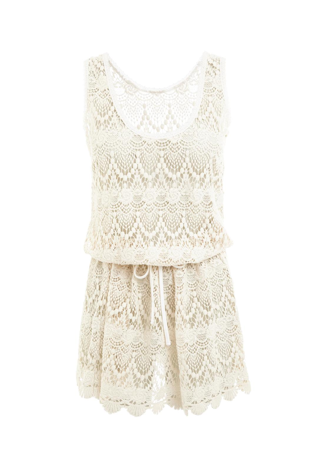 Melissa Odabash Alison Cream Lace Dress - Main Image