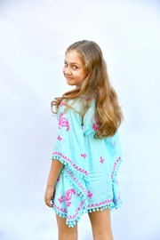 Melissa Odabash Sharize Sky-Hot-Pink Kaftan - Front full body