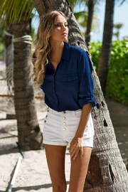 Melissa Odabash Tash Navy Shirt - Product Mini Image