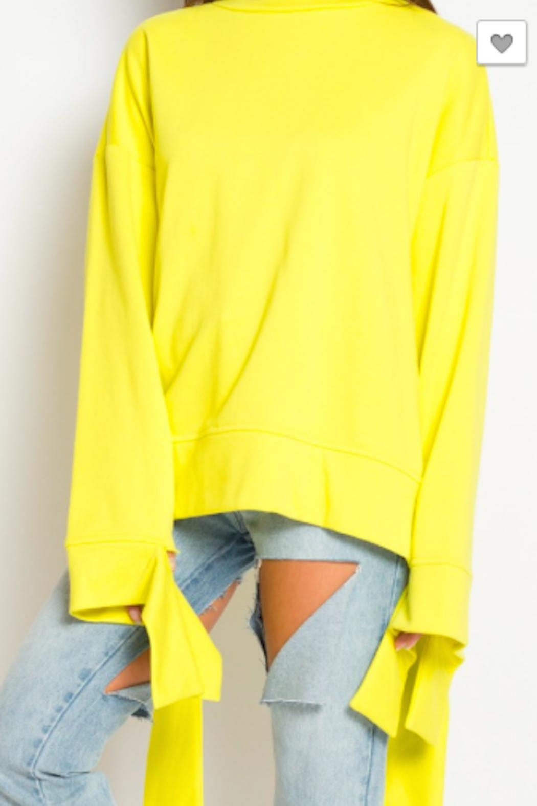 TIMELESS Mellow Yellow Sweater - Side Cropped Image