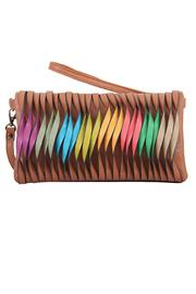 Mellow World Vegan Leather Clutch - Front cropped