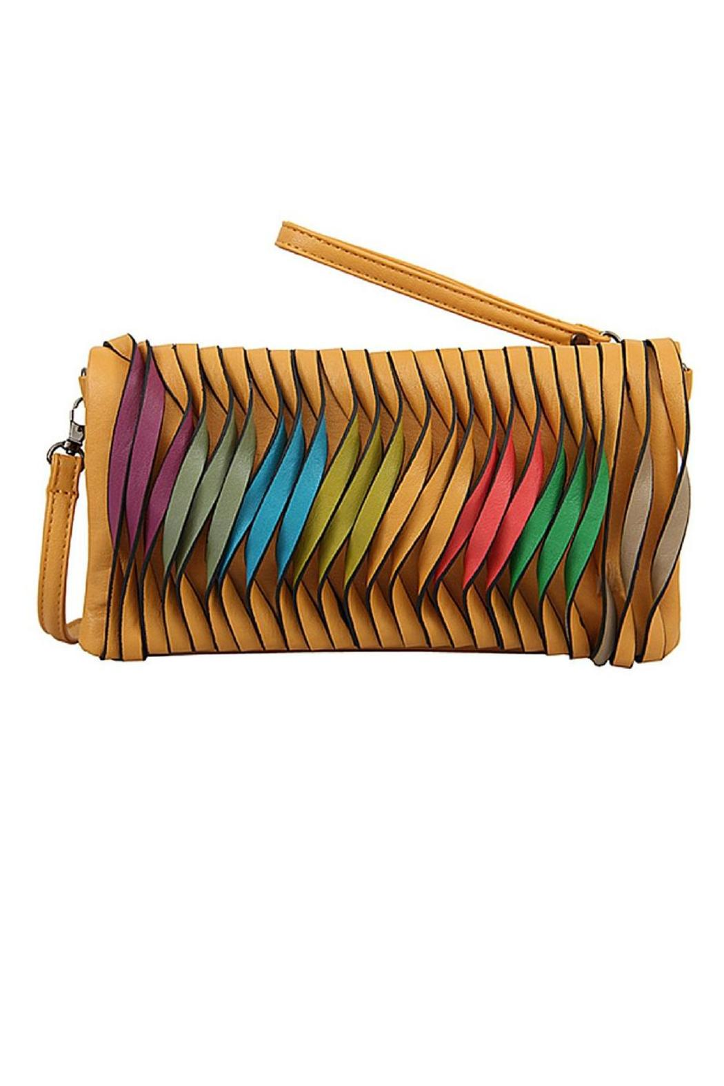 Mellow World Vegan Leather Clutch - Front Cropped Image