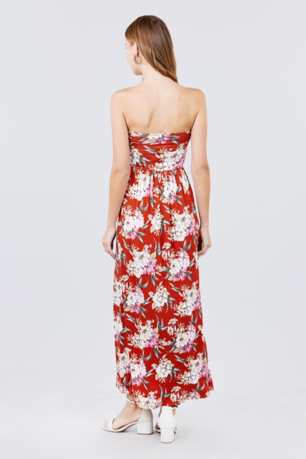 Active Basic Melly Strapless Maxi dress - Front Full Image