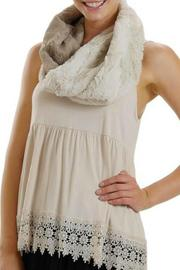 Melody Faux Fur Infinity Scarf - Front full body