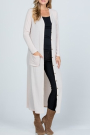 Melody Textured Maxi Cardigan - Side cropped