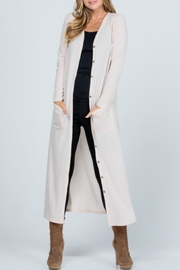 Melody Textured Maxi Cardigan - Front full body