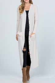 Melody Textured Maxi Cardigan - Front cropped