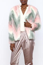 Melody Unicorn Faux Fur Jacket - Front cropped