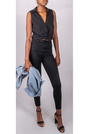 Final Touch Melrose Twist-Tank Black - Side cropped