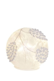 Melrose International  Frosted Pinecone/globe Small - Product Mini Image