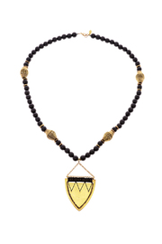 Melvin Jewelry Black Threaded Shield Necklace - Product Mini Image