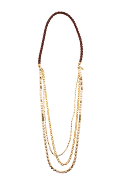 Shoptiques Product: Brown Layer Necklace