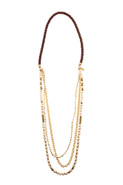 Melvin Jewelry Brown Layer Necklace - Product Mini Image