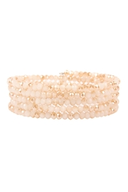 Riah Fashion Memory-Wire Beads-Bracelet - Front cropped