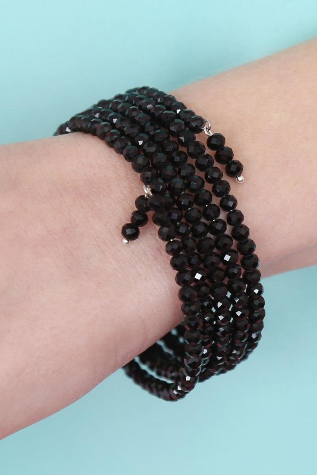 Riah Fashion Memory-Wire Beads-Bracelet - Side Cropped Image