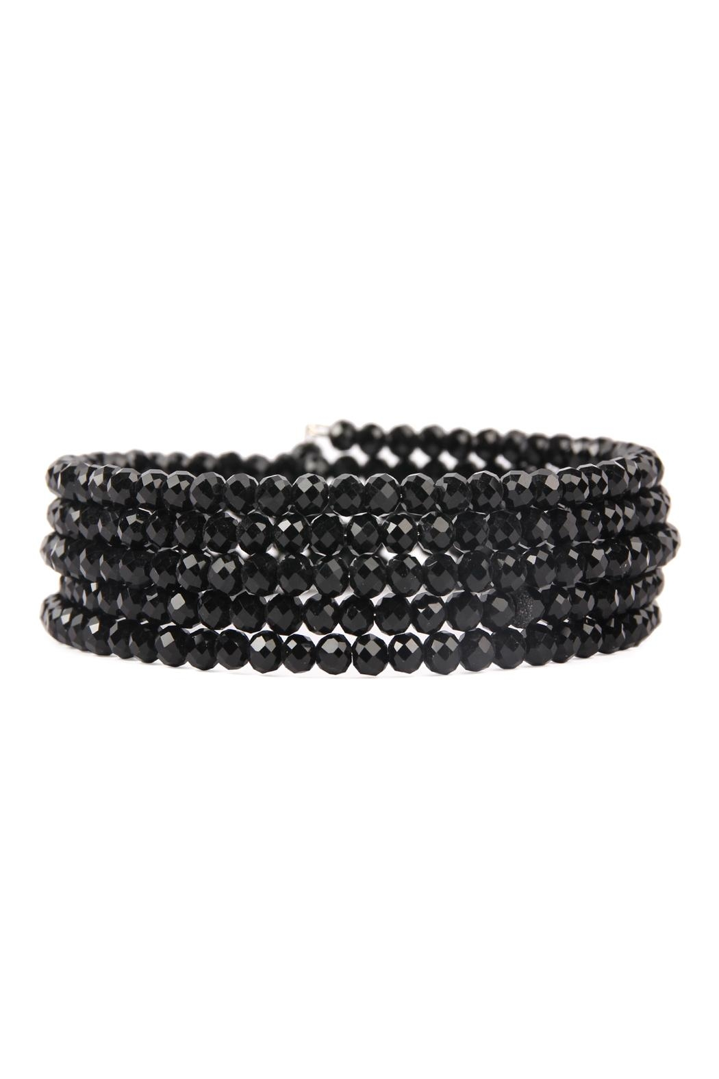 Riah Fashion Memory-Wire Beads-Bracelet - Front Cropped Image