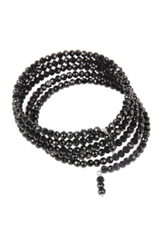 Riah Fashion Memory-Wire Beads-Bracelet - Front full body