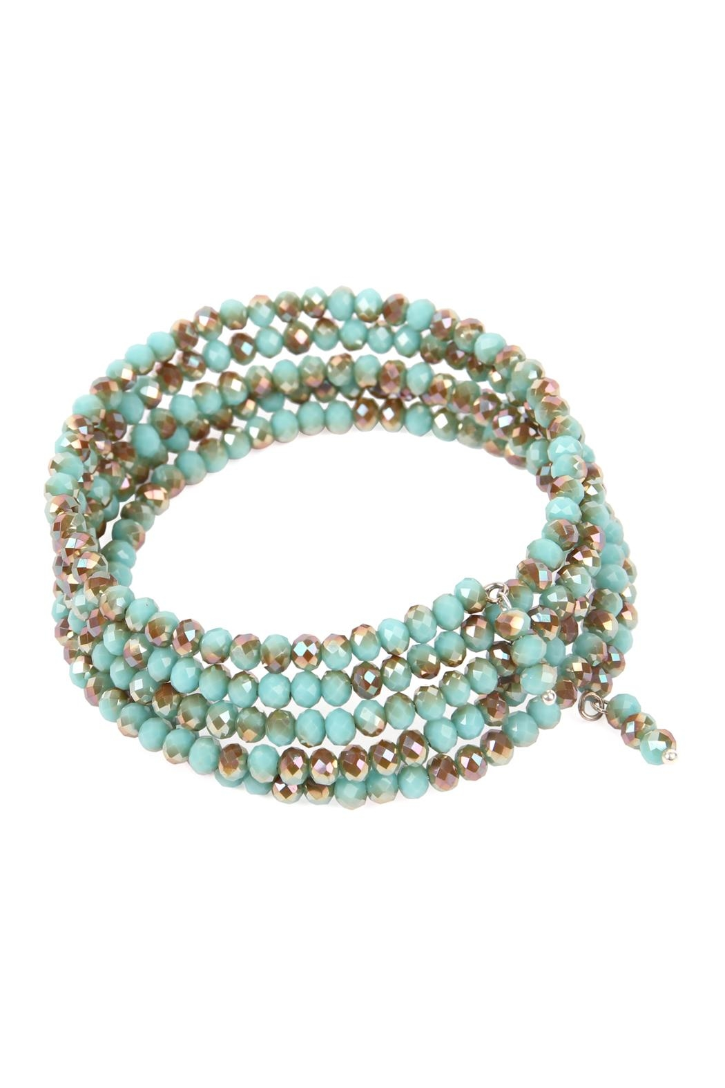 Riah Fashion Memory-Wire Beads-Bracelet - Front Full Image