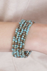 Riah Fashion Memory-Wire Beads-Bracelet - Side cropped