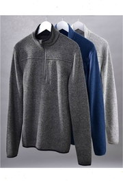 Charlie Paige Men's Zippered Pullover - Product Mini Image