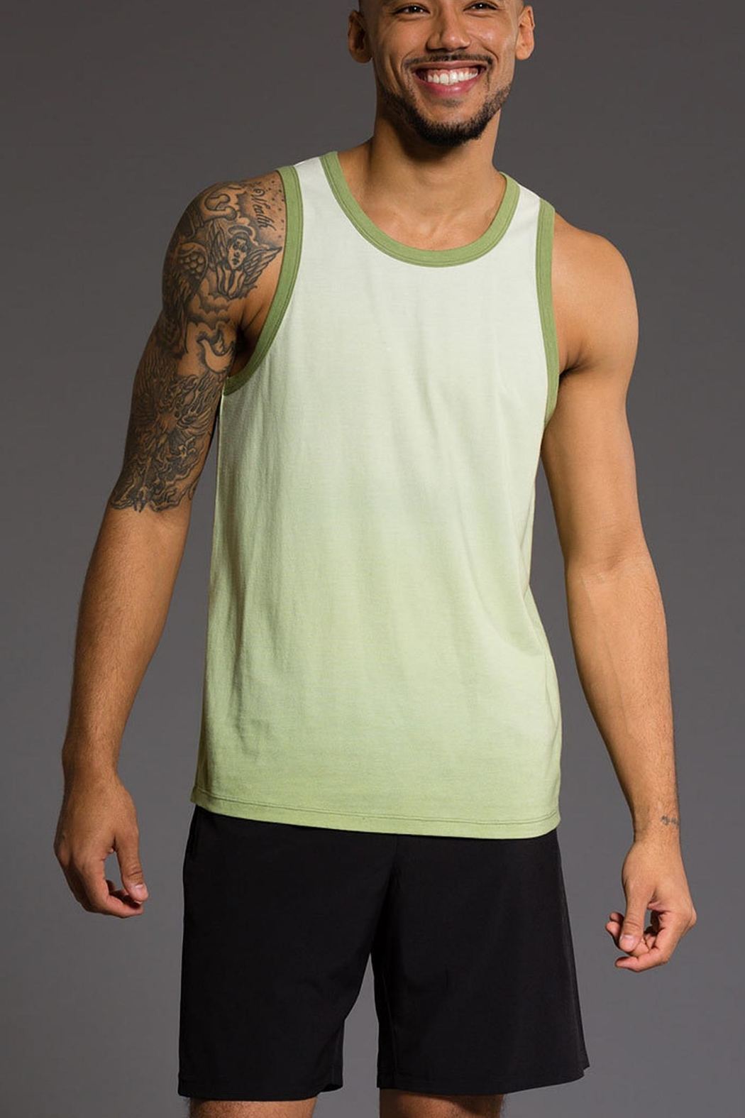 Onzie Mens Ombre Tank - Back Cropped Image