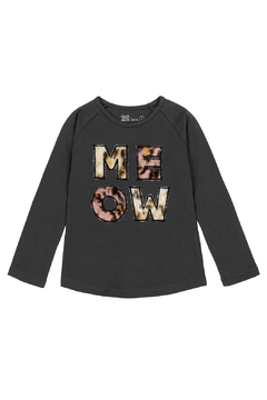 Deux Par Deux Meow Long Sleeve Shirt - Product List Image