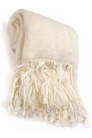 Merben Mohair Fringed Throw - Product Mini Image