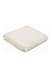 Merben Small-Stitch Cotton Throw - Front cropped