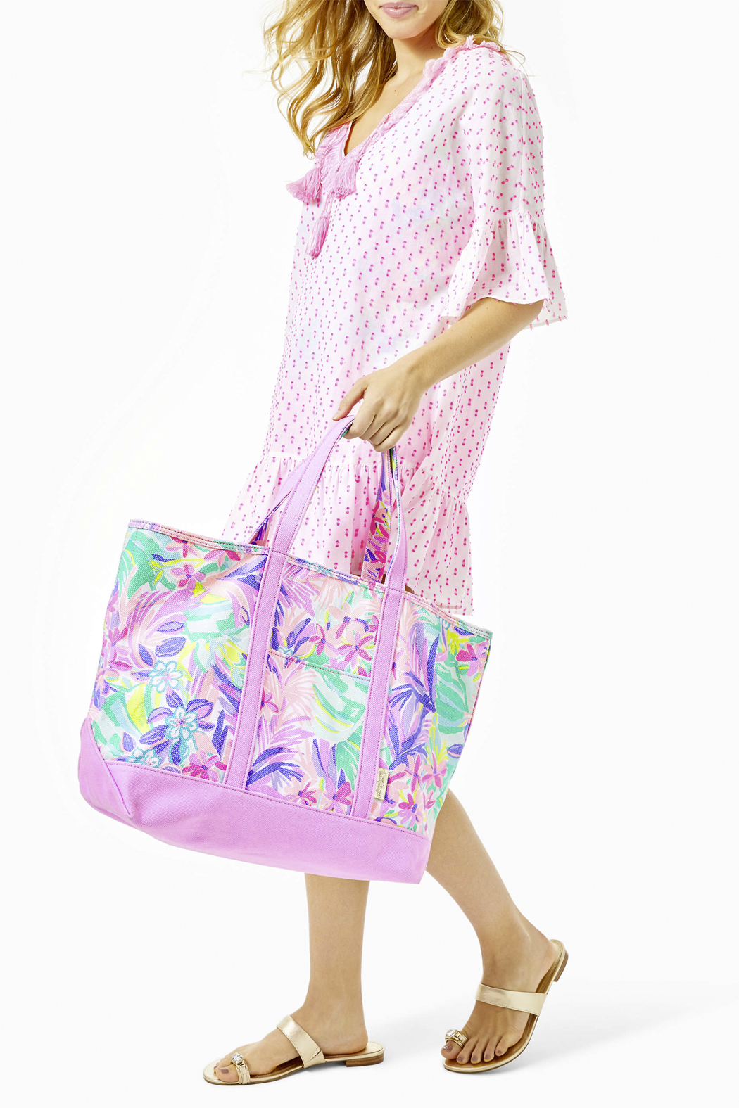 Lilly Pulitzer Mercato Tote - Back Cropped Image
