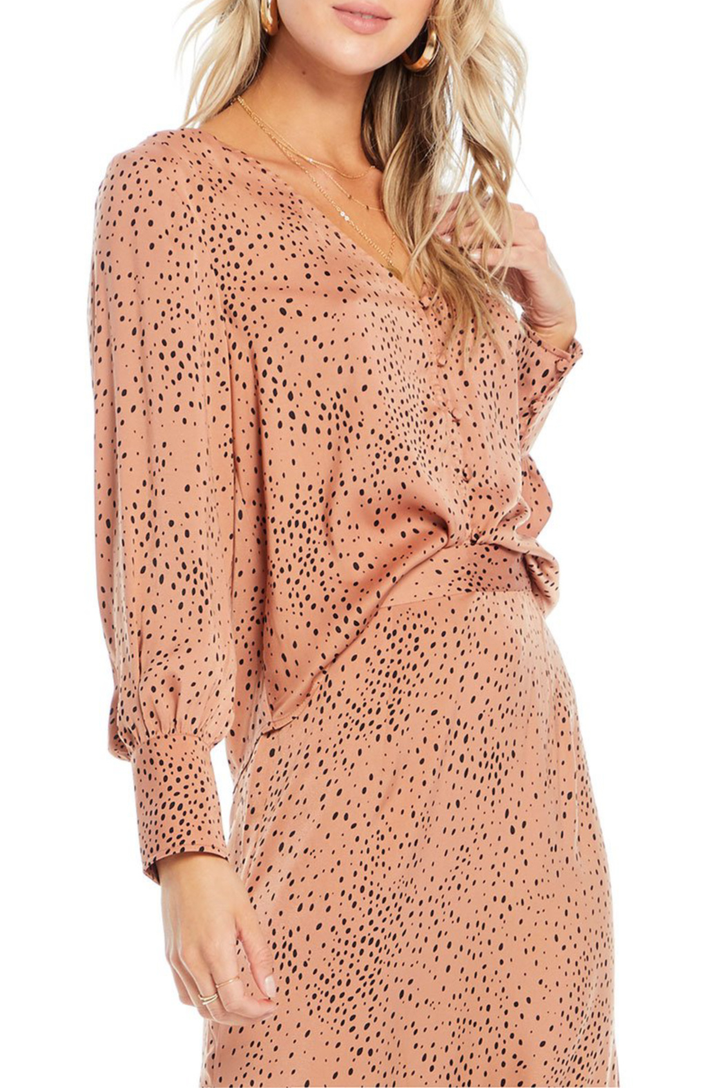 Saltwater Luxe Mercy Button Front Blouse - Front Full Image