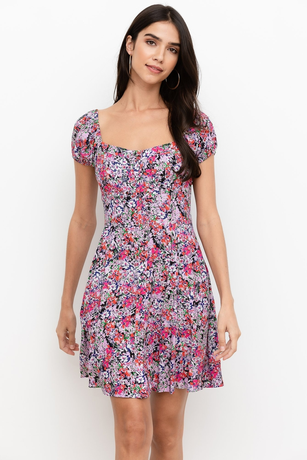 Yumi Kim Mercy Mini Floral Dress - Front Cropped Image