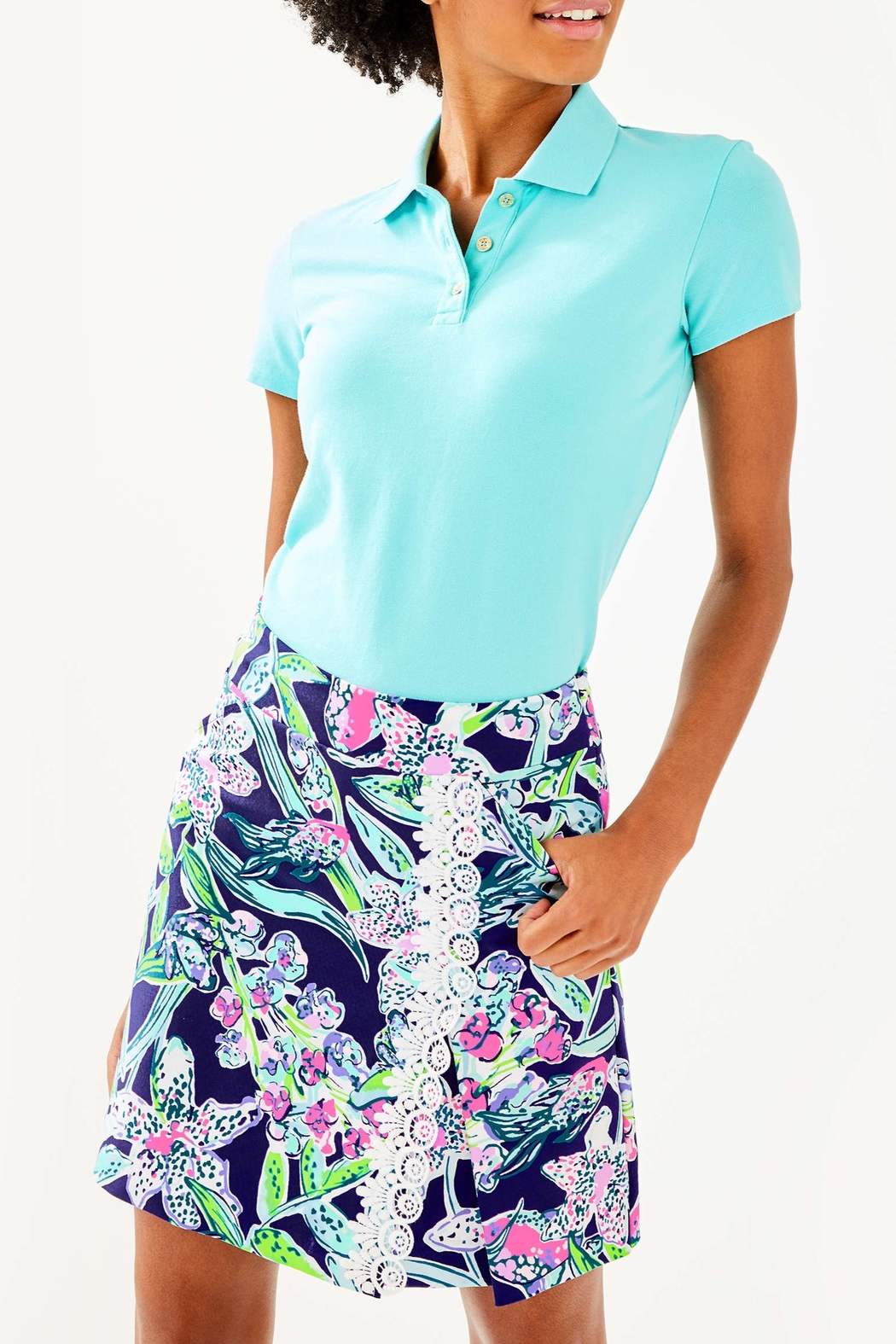 Lilly Pulitzer  Meredith Luxletic Polo - Main Image