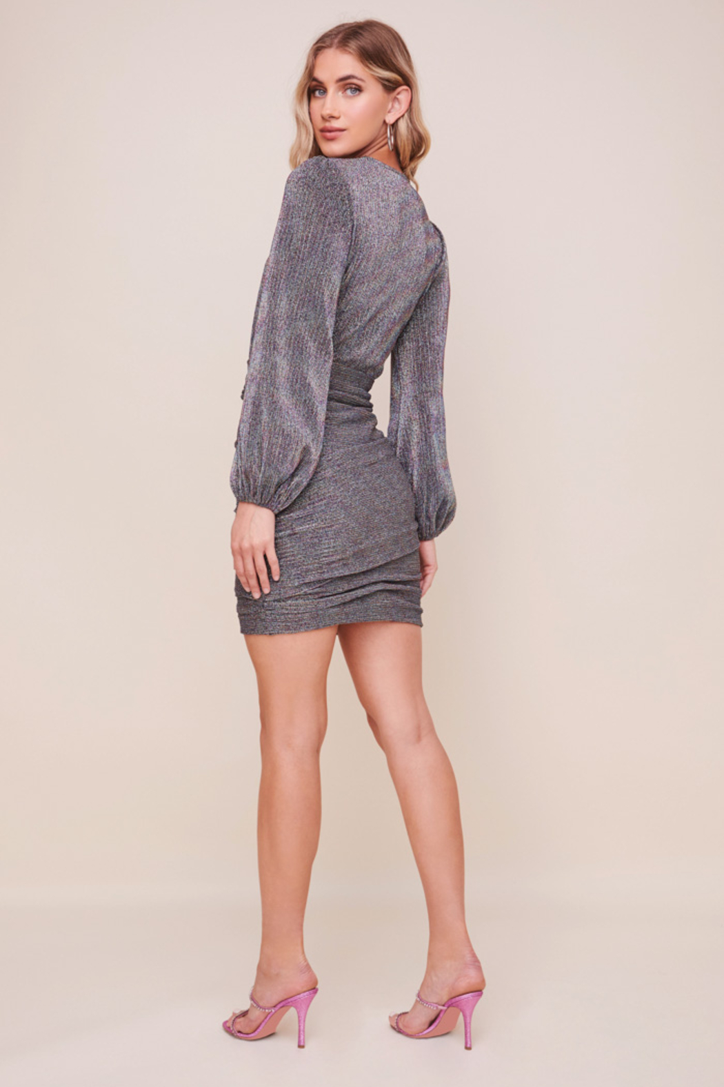 ASTR the Label Meredith Metallic Dress - Front Full Image