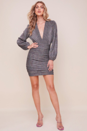 ASTR the Label Meredith Metallic Dress - Front cropped